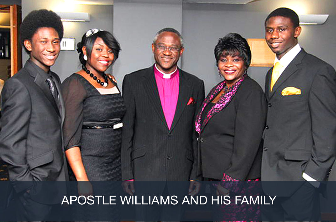 Apostle Williams and His Family