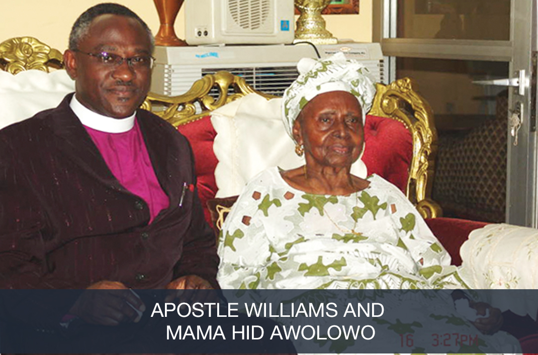 Apostle with Mama Hid Owolowo